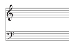 Blank with Treble and Bass Clefs