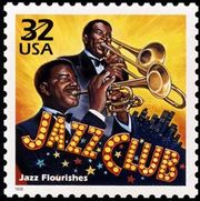 This USPS stamp celebrates the rise of jazz in the 1920s