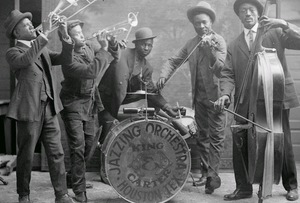 The King & Carter Jazzing Orchestra photographed in Houston, Texas, January 1921.